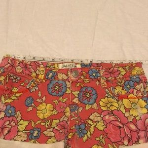 Jalate Shorts - Jalate Floral cuffed shorts size 5